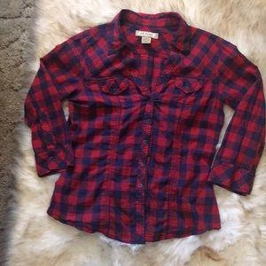 Arizona blue and red checked shirt. Size medium.